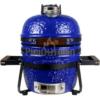 Kép 1/6 - KAMADO4U MINI D27 kerámia grill kék asztali kivitel