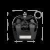 Kép 2/3 - Primo Oval 200 Junior kerámia grill deflektor kővel