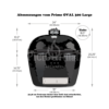 Kép 2/5 - Primo Oval 300 L kerámia grill deflektor kővel