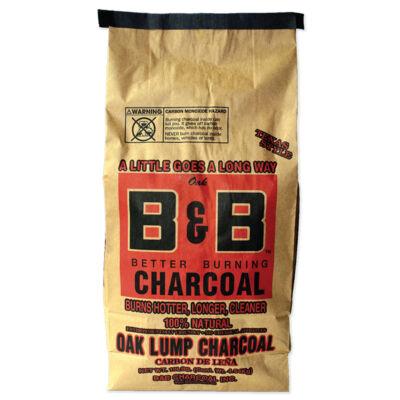 B&B OAK prémium faszén 10 Lb / 4,54 Kg