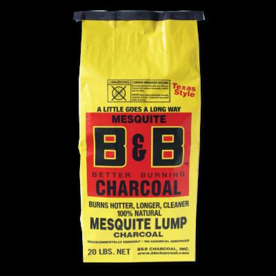 B&B Mesquite prémium faszén 20 Lb / 9,07 Kg