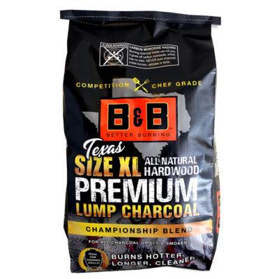 B&B XL Texas Size  prémium faszén 24 Lb / 10,89 Kg