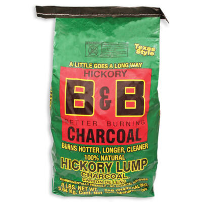 B&B Hickory prémium faszén 8 Lb / 3,63 Kg