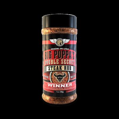 Big Poppa Smokers - Double Secret steak fűszerkeverék 7oz-198gr