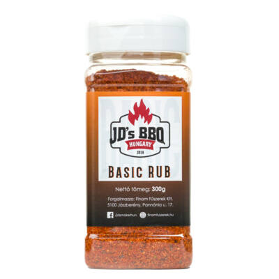 JD`s BBQ Hungary Basic Rub 300 g szóródobozban