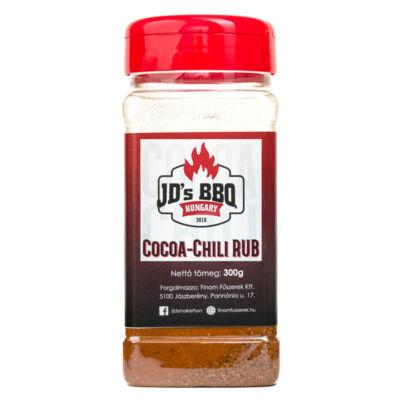JD`s BBQ Hungary Cocoa Chili Rub 300 g szóródobozban