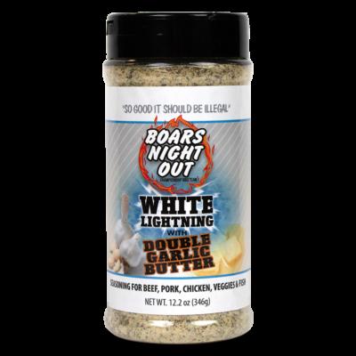 Boars Night Out - White Lightning/with double garlic fűszerkeverék 411gr