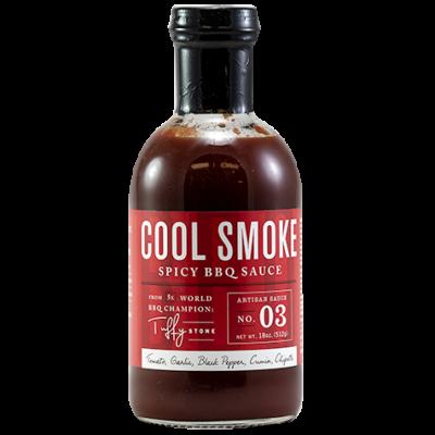 Tuffy Stone Cool Smoke - Spicy BBQ szósz 18oz