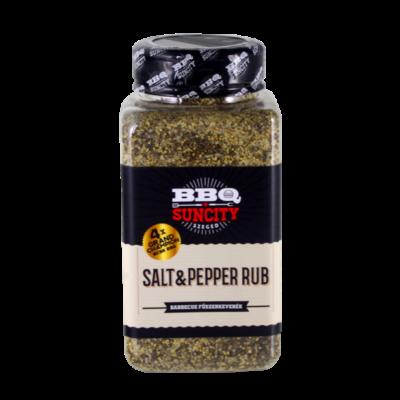 BBQ SunCity Salt&Pepper Rub 580 g szóródobozban