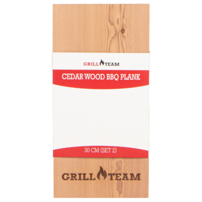 GrillTeam cédrus füstölő deszka 30 cm
