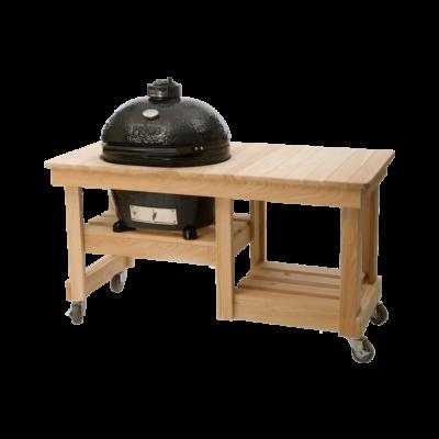 Ciprusfa Counter Top asztal Primo OVAL 300 Large kerámia grillhez