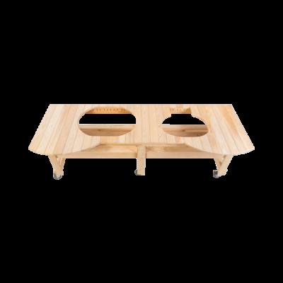 Ciprusfa helytakarékos asztal Primo Oval 400 XL és Primo Oval 200 Junior Grillekhez