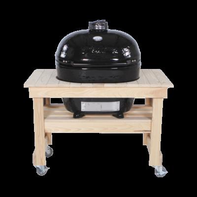 Ciprus asztal kompakt méretben Primo Oval 400 XL kerámia grillhez