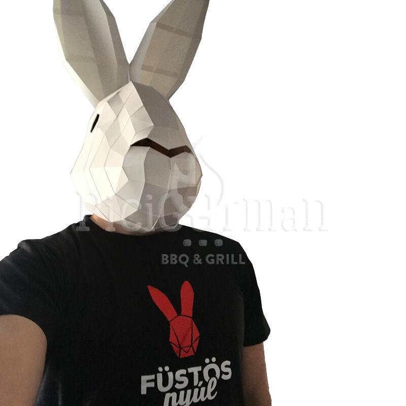 Füstös Nyúl T-shirt férfi XL