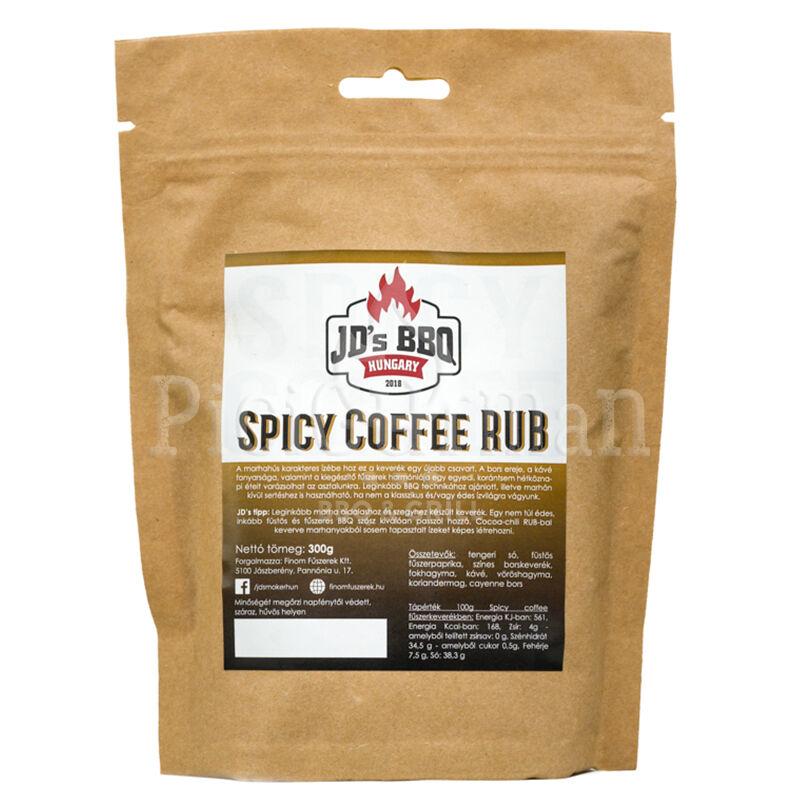 JD`s BBQ Hungary Spicy Coffee Rub 300 g visszazárható tasakban