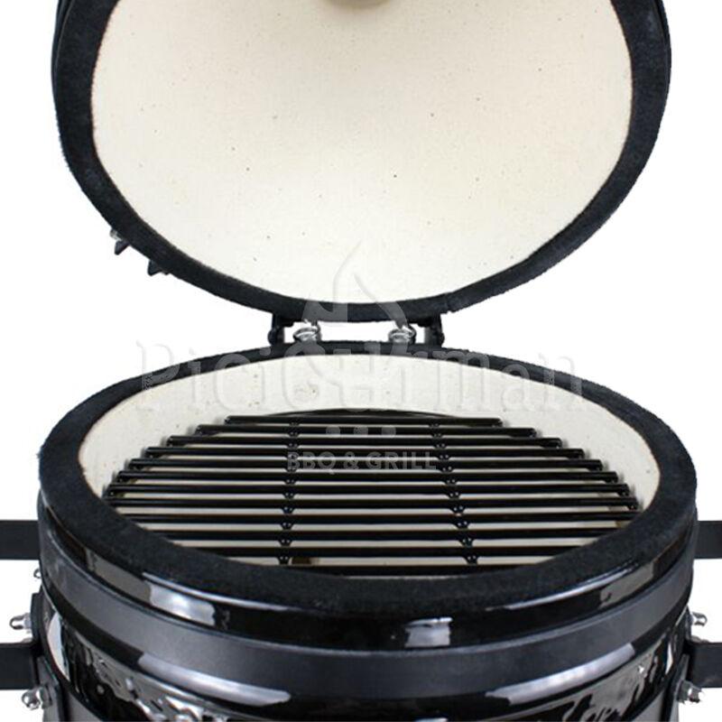 KAMADO4U MINI D27 kerámia grill fekete asztali kivitel