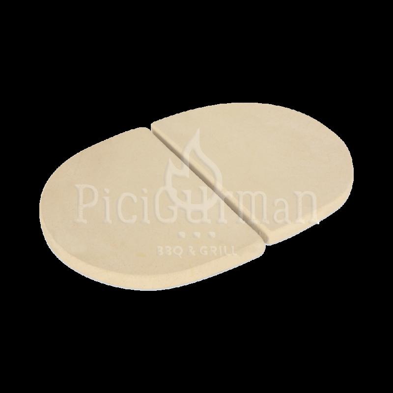 Kerámia hővédő lap Primo Oval XL 400 kerámia grillhez (2 db)