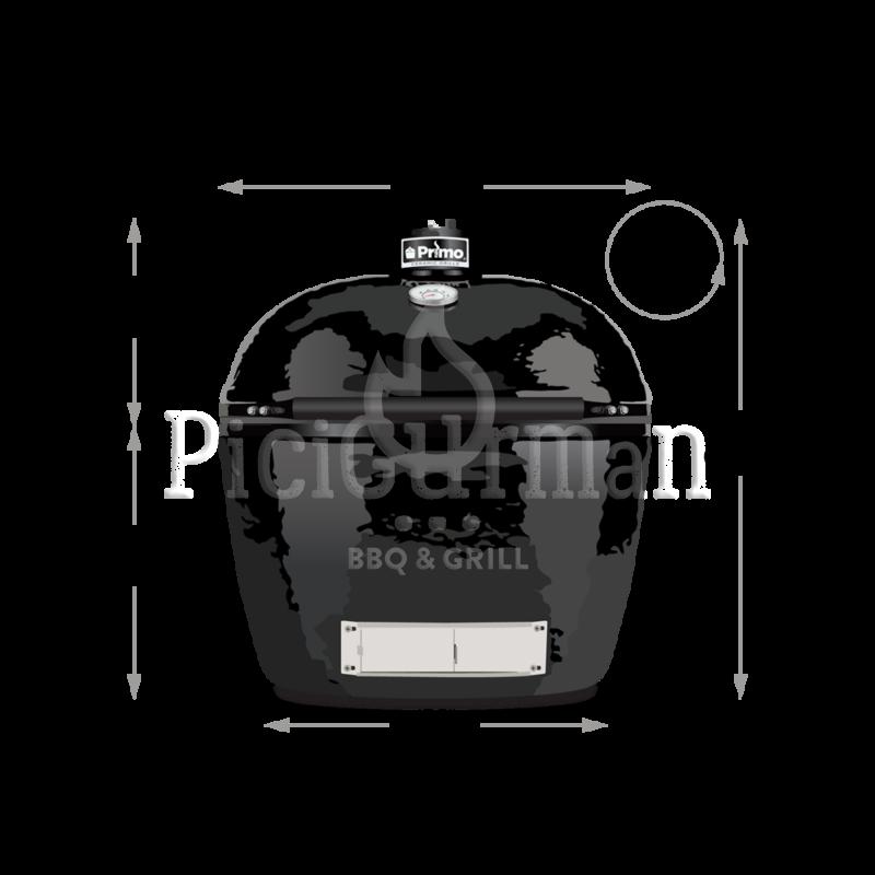Primo Oval 200 Junior kerámia grill deflektor kővel