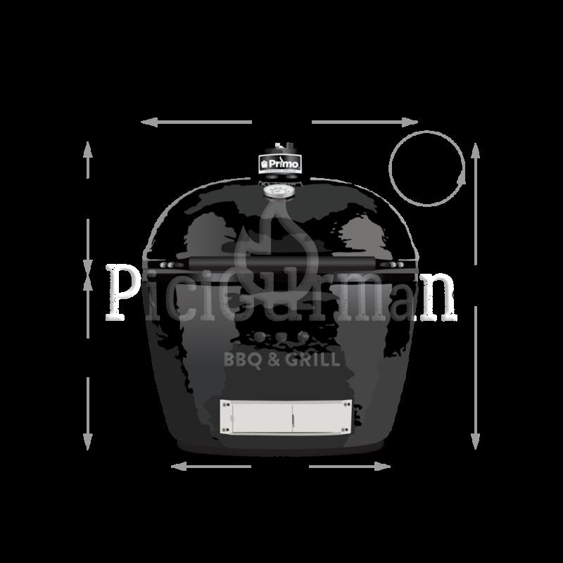 Primo Oval 300 L kerámia grill deflektor kővel