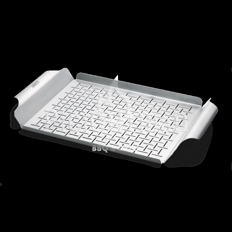 Weber Style grill serpenyő, lyuggatott, nemesacélhasználható a Q 200/2000 sorozathoz és annál nagyo