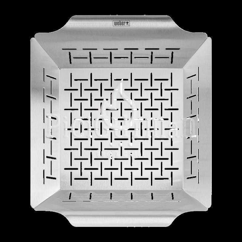 Weber Style négyzet alakú grillkosár, nemesacél