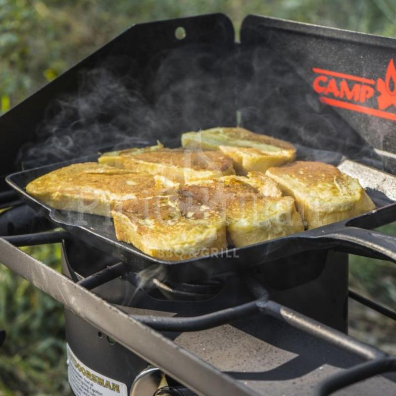 Camp Chef négyzet alakú öntöttvas grill serpenyő